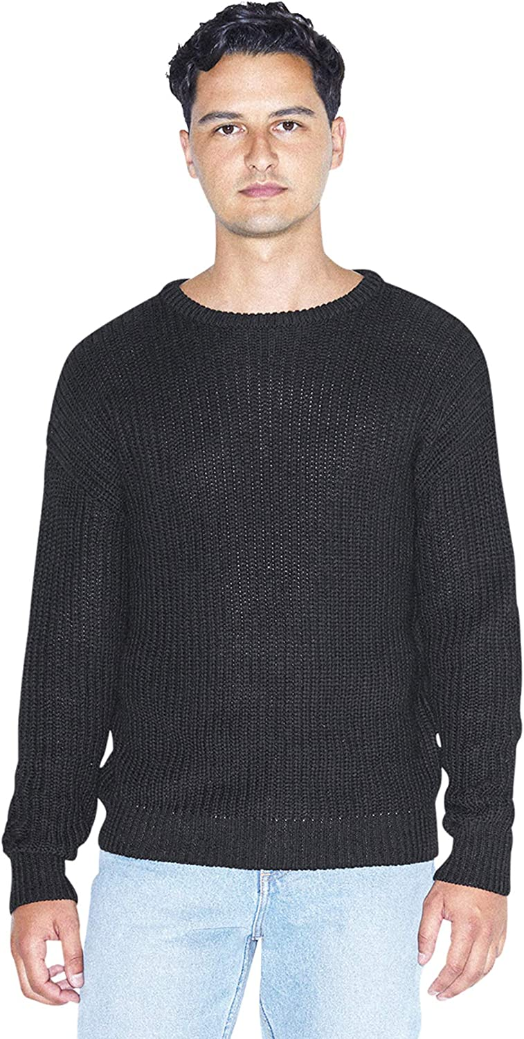 American Apparel Men's Fisherman's Long-Sleeve Pullover Knit Sweater at  Men's Clothing store