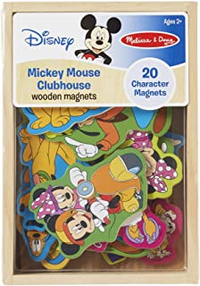 Melissa & Doug Disney Mickey Mouse Wooden Character Magnets (Developmental Toys, Wooden Storage Case, 20 Disney-Inspired Magnets)