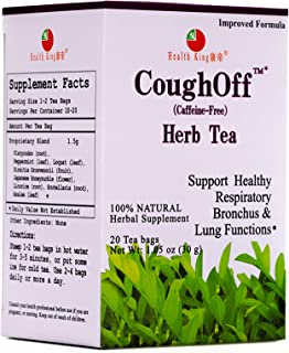 Health King CoughOff Herb Tea, Herbal Tea, 20 Tea Bags, medicinal, tea, functional herb tea, traditional, P...