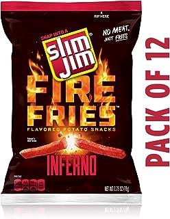 Slim Jim Fries Inferno Flavor, 2.75 Oz (Pack Of 12)