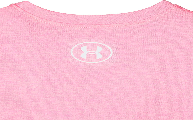 Under Armour Girls Big Logo Twist Short Sleeve Training Workout T-Shirt