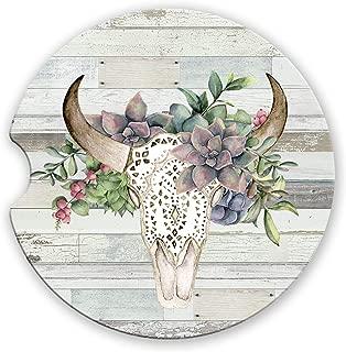 cow skull succulents