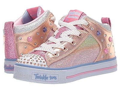 SKECHERS KIDS Twinkle Lite 20243L (Little Kid/Big Kid) (Light Pink/Multi) Girl