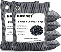 Marsheepy 6 Pack Activated Charcoal Air Purifying Bags, Bamboo Charcoal Bags, Activated Charcoal Odor Absorber, Odor Elimi...