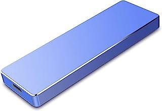 超薄型 外付けHDD ハードディスク ポータブルHDD 外付けハードディス USB3.1/Type C 簡単接続 PC/Mac/Windows/PS4/XBox適用(1TB,青)