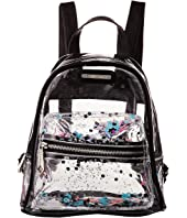 Rampage Clear Sequin Mini Backpack