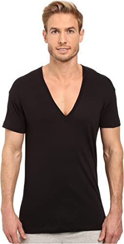 2(X)IST Pima Slim Fit Deep V-Neck T-Shirt