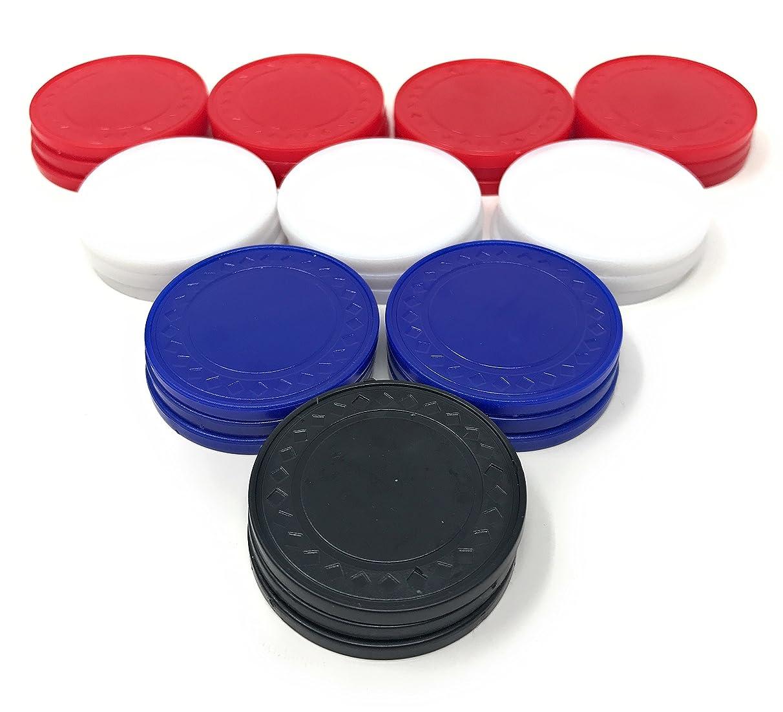 Sea View Treasures 100 Bulk Poker Chip Assortment (Blue, White, Red, Black)