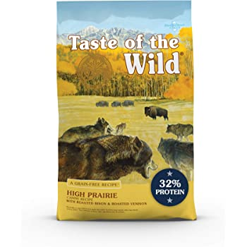 Taste of the Wild Roasted Bison and Roasted Venison High Protein Real Meat Recipes Dry Dog Food with Superfoods and Nutrients Like Probiotics, Vitamins and Antioxidants for Adult Dogs or Puppies