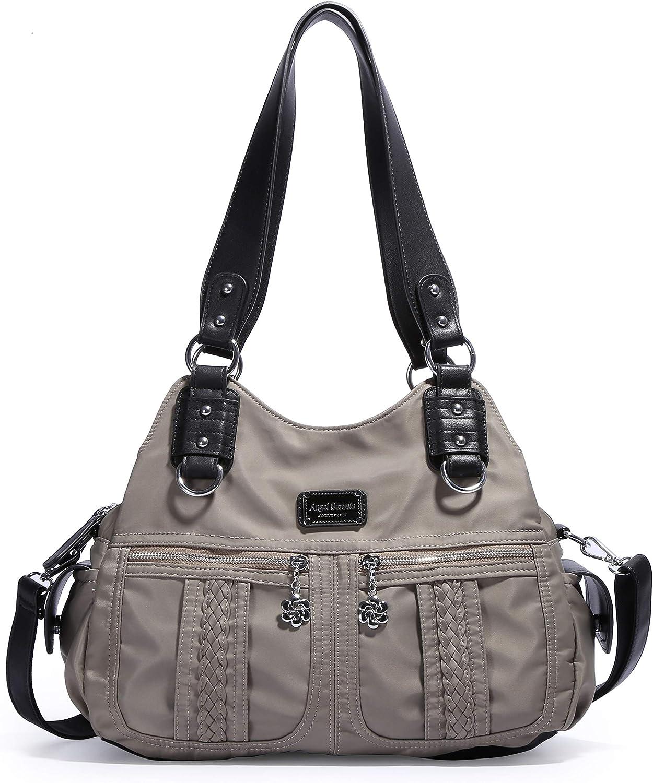 Angel Barcelo Fashion Women's Multipocket nylon Handbags Shoulder Bags Totes Purses