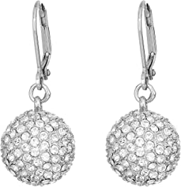 Leverback Pave Ball Drop Earrings