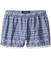 Toobydoo - Chambray Pom Pom Shorts (Toddler/Little Kids/Big Kids)