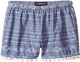 Chambray Pom Pom Shorts (Toddler/Little Kids/Big Kids)