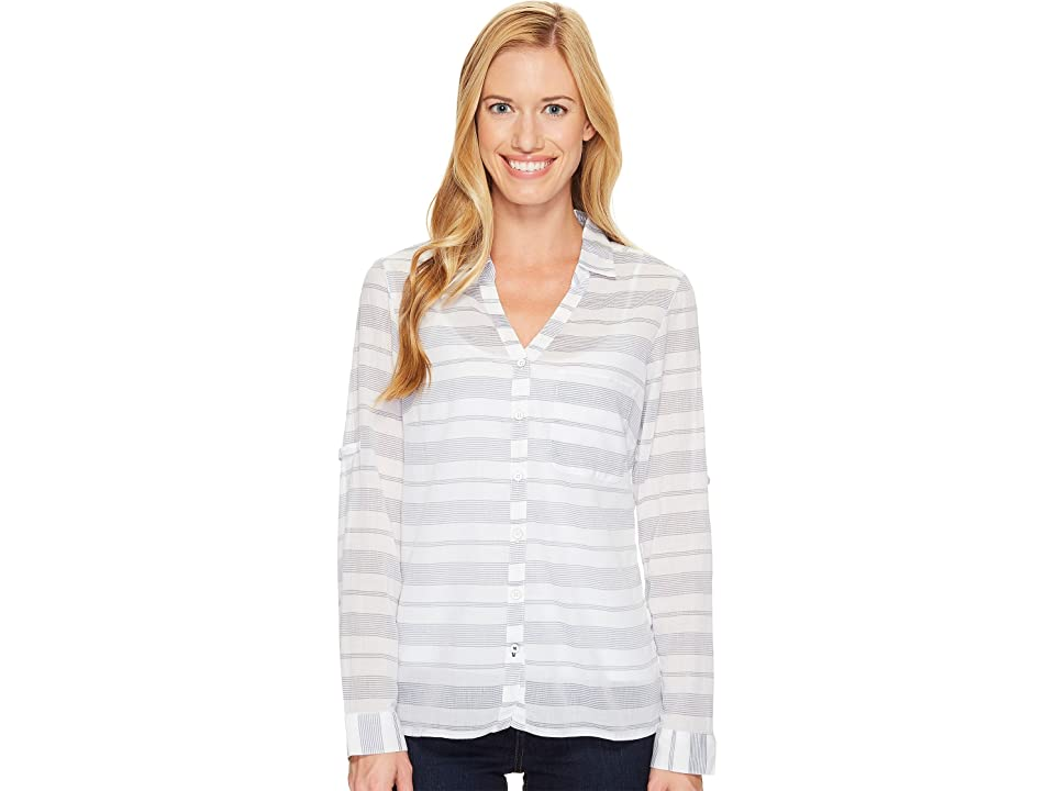 Columbia Early Tidetm Long Sleeve Shirt (Nocturnal Stripe) Women