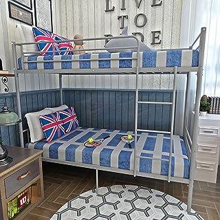 Panana 2 x 3 fot enkelmetall våningssäng 2 personer sängram barn tvillingar sovrum möbler (silver våningssäng)