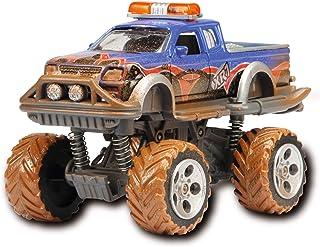Dickie Toys Eat My Dust Rally, Monster Truck, camión infantil, juguete de monstruo, 15 cm, 3 modelos, multicolor (203742010) , color/modelo surtido