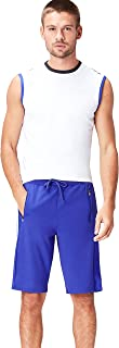 Activewear Men's Sports Shorts with Contrast Piping Regular Waist