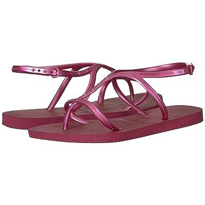 Havaianas Allure Maxi Flip-Flops (Beet) Women