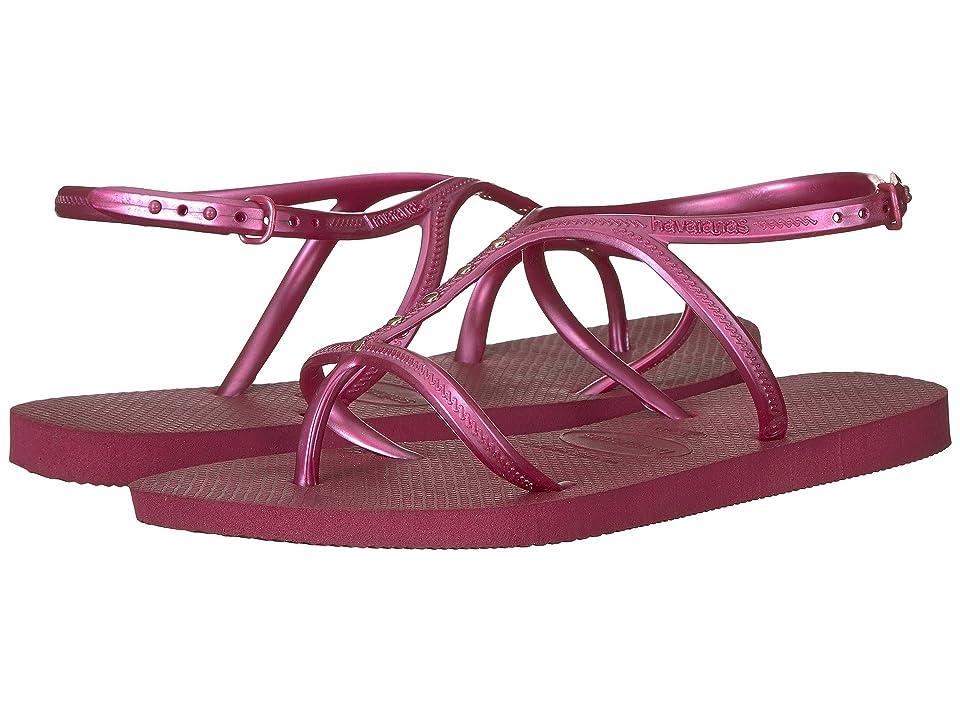 6f64433da Havaianas Allure Maxi Flip-Flops (Beet) Women s Sandals
