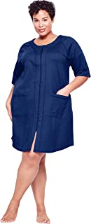 Dreams & Co. Women's Plus Size Short French Terry Robe