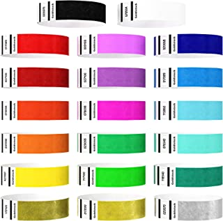 """Heavier Tyvek Wristbands 7.5 Mil – Goldistock """"Top 20"""" 10,000 Ct. Variety Pack- ¾"""" Arm Bands - 20 Unique Colors in All - P..."""