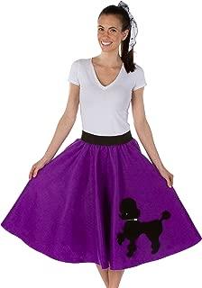 purple poodle skirts