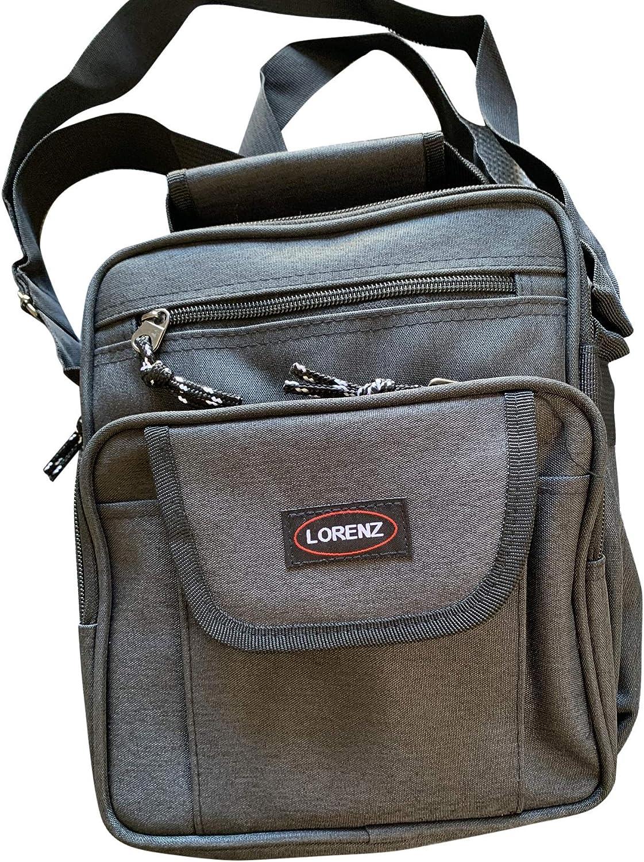 Lorenz Medium Sized Unisex Flight Gadget Travel Organiser Bag 26 x 21 x 11 cms Black