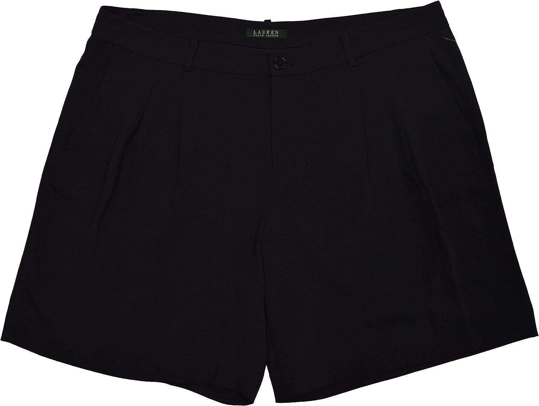 Lauren Ralph Lauren Plus Size Sueded Crepe Pleated Shorts
