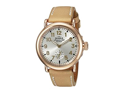 Shinola Detroit The Runwell 36mm 10000246 (Silver/Natural) Watches