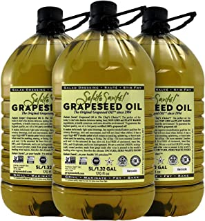 Salute Sante! Grapeseed Oil for High Temperature Cooking, Healthy Grape Seed Oil, Non-GMO and Kosher for Salad Dressings, ...