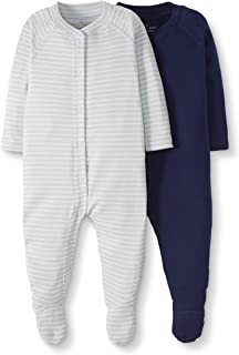 Moon and Back by Hanna Andersson Baby 2-Pack Organic Cotton Footed Sleep and Play