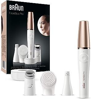 Braun FaceSpa Pro 911 Facial Epilator White/ Bronze with 3 Extras