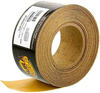 """Dura-Gold - Premium - 220 Grit Gold - Longboard Continuous Roll 20 Yards long by 2-3/4"""" wide PSA Self Adhesive Stickyback ..."""