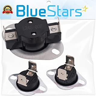LA-1053 Dryer Thermal Fuse Kit Replacement by Blue Stars - Replaces 53-1133, 53-1526, AP4242472, K35-601 - Exact fit for Whirlpool & Maytag dryers