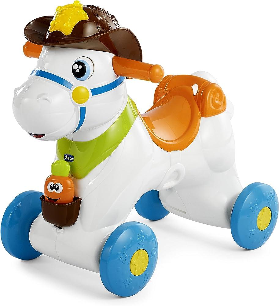 Chicco cavallo a dondolo per bambini gioco educativo e interattivo giochi neonato e bambini 1+ anni 00007907000000
