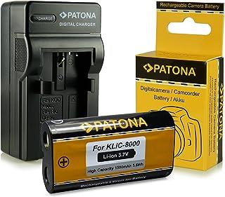 Cargador + Batería Kodak Klic-8000 / Ricoh DB-50 para Kodak EasyShare Z612 | Z712is | Z812is | Z8612is | Z1012 | Z1012is | Z1015is | Z1085is | Z1485is | Z8612is | Zx1 | RICOH Caplio R1 | R1S | R2 | RZ1 | R-1