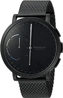 Skagen Men's 42mm Hagen Connected Black Steel-Mesh Hybrid Smart Watch