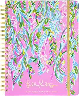 Lilly Pulitzer Jumbo 2020-2021 Planner Weekly & Monthly, Dated Aug 2020 - Dec 2021, 17 Month Hardcover Agenda with Notes/Address Pages, Stickers, Pocket, Laminated Dividers, Unicorn of the Sea