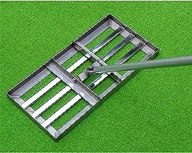 Grashark voor golf, tuin, grasniveau, professionele gazon-leveling rak, roestvrij staal, high-performance gras, push-nivea...