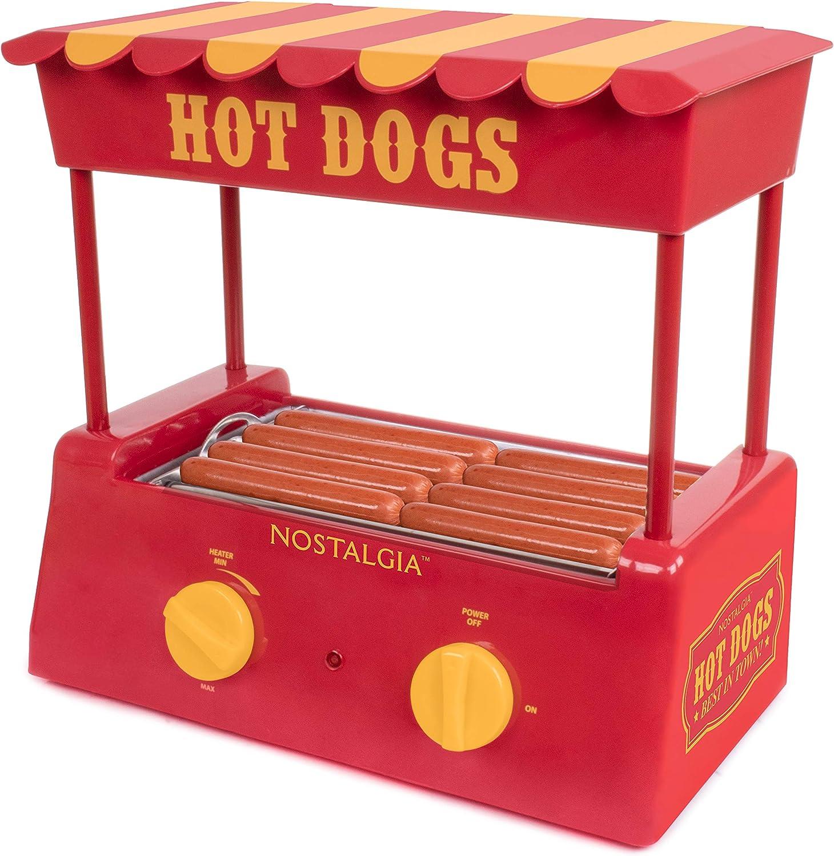 Nostalgia HDR8RY Countertop Hot Dog Warmer 8 Regular Sized