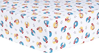 Trend Lab Dr. Seuss Cat in The Hat Fitted Crib Sheet, Red/Blue/Yellow