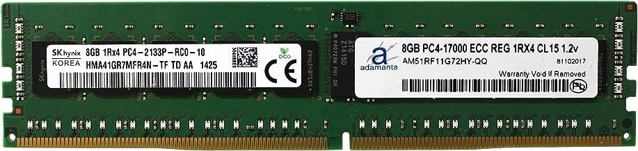 Adamanta 8GB (1x8GB) Server Memory Upgrade Compatible with Dell Poweredge, Dell Precision & HP Proliant Servers DDR4 2133MHz PC4-17000 ECC Registered Chip 1Rx4 CL15 1.2V DRAM RAM
