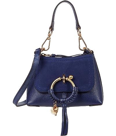 See by Chloe Joan Mini Hobo Lizard (Classic Navy) Cross Body Handbags