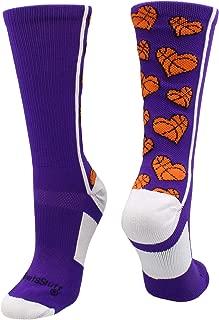 Crazy Love Basketball Hearts Crew Socks