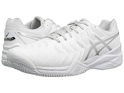 ASICS Gel-Resolution 7 Clay Court (White/Silver) Men