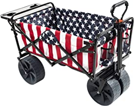 MacSports Collapsible Folding Outdoor Beach Wagon with Side Table, Perfect for Camping,..