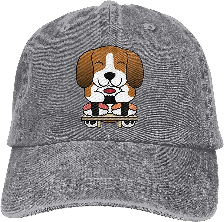 Sushi Basset Hound Jacksonville Mall Dog Unisex Baseball for Sun Retro Sale item Cap Hat