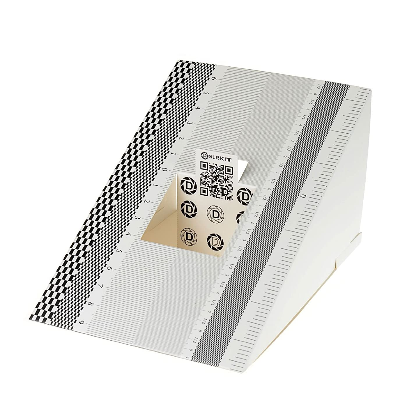 咳スイス人バンジョーDSLRKIT Lens Focus Calibration Tool Alignment Ruler Folding Card (pack of 2)
