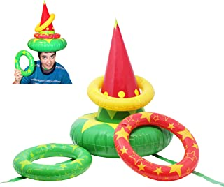 JOYIN Inflatable Elf Hat Christmas Ring Toss Game Set,Holiday Party Favors for Christmas Parties Games Toy