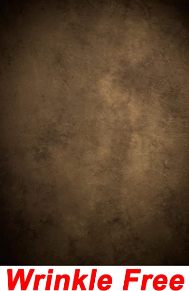 Dark Brown Wall Backdrop Wrinkle Free Cloth Retro Vintage Brown Concrete Wall Cement Wall Portrait Photo Solid Brown Abstract Texture Printed Fabric Photography Background G0403 5 Wide By 7 Tall